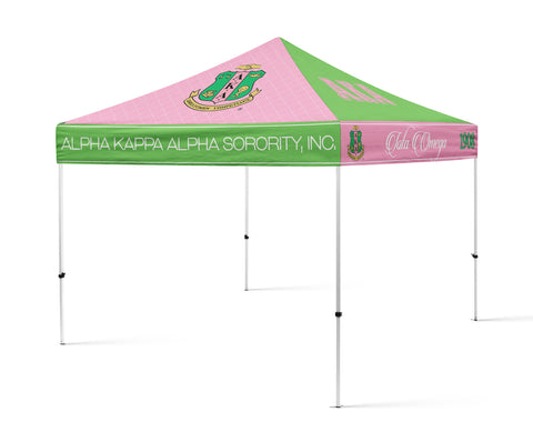 AKA Sorority Portable Canopy Tent, Sorority Greek Tent - Designs by Dee's Hands  - 1