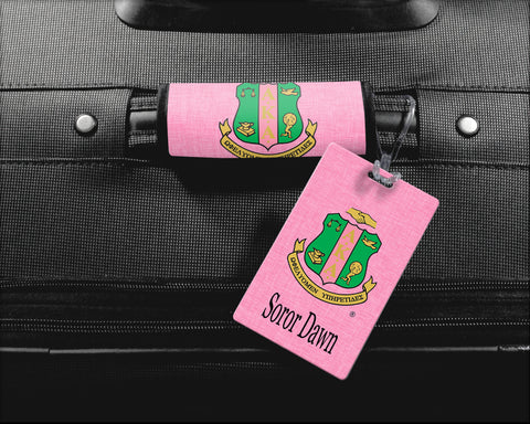 Skee Wee! Travel - Alpha Kappa Alpha Sorority Personalized Luggage Tag or Briefcase Tag - NEW DESIGN