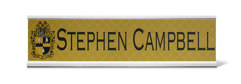 A-Phi! Office - Alpha Phi Alpha Personalized Desk Name Plate - Holder not included see link in description where to buy