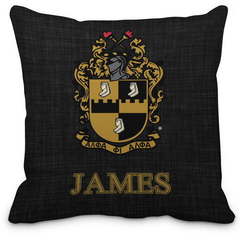 A Phi! Home - AΦA Personalized Fraternity Pillow, Alpha Phi Alpha Fraternity Chapter Piillow