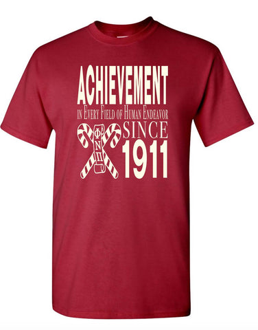 Yo! Apparel - Kappa Achievement Kappa Alpha Psi Men's TShirt - Greek Letters & Name Mens Tee