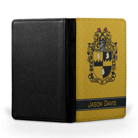 A Phi! Travel - Personalized Passport Cover - Alpha Phi Alpha Fraternity