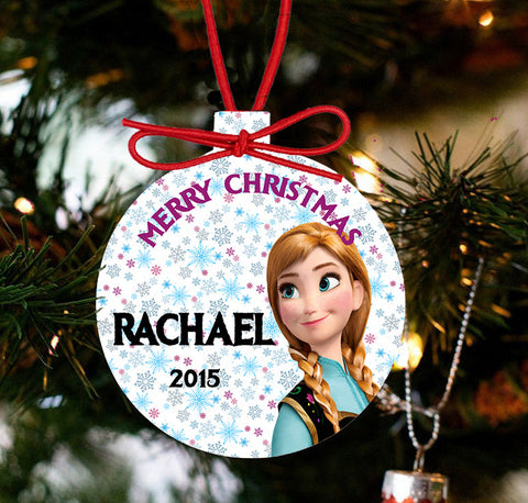 Personalized Frozen Christmas Ornament - Princess Anna - Designs by Dee's Hands