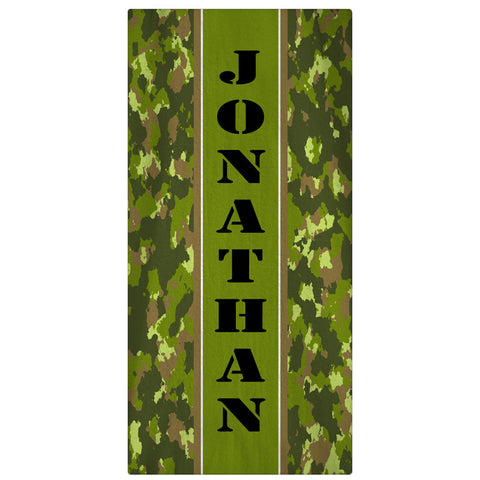 Beach Towel, Camo Print - Army Green - Designs by Dee's Hands