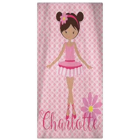 Beach Towel, Ballerina Personalized Towel - Designs by Dee's Hands  - 3
