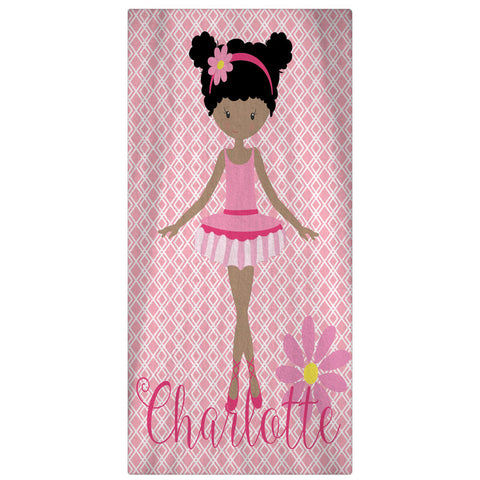Beach Towel, Ballerina Personalized Towel - Designs by Dee's Hands  - 1