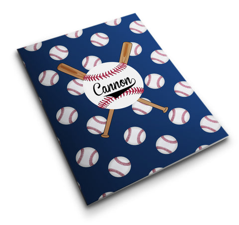 Personalized Pocket Folder Bats and Baseballs - Designs by Dee's Hands  - 1