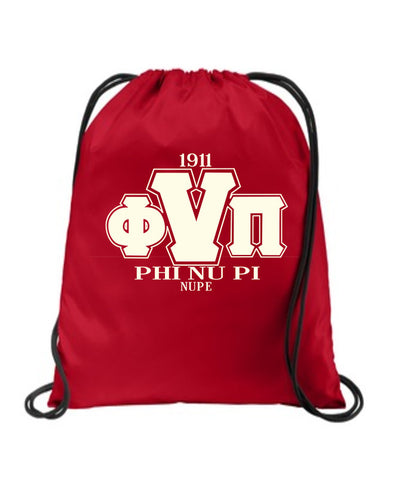 Kappa Alpha Psi Drawstring Bag, Backpack - Designs by Dee's Hands  - 1