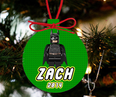 Personalized Christmas LEGO Ornament - Lego Movie Character Batman - Designs by Dee's Hands  - 3