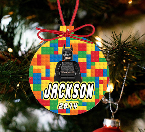 Personalized Christmas LEGO Ornament - Lego Movie Character Batman - Designs by Dee's Hands  - 1