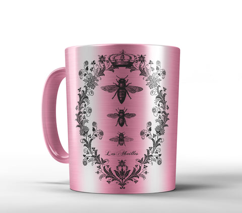 Les Abeilles, The Bees Mug - Designs by Dee's Hands  - 2