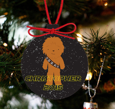 Personalized Christmas Star Wars Ornament - Chewbarka - Designs by Dee's Hands