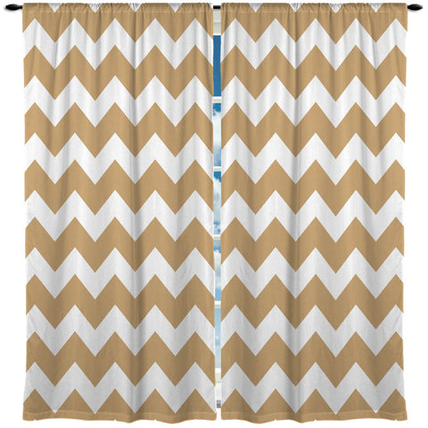 Chevron Window Curtains - 64 Colors - Designs by Dee's Hands