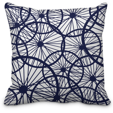 Cyclist Bike Wheels Throw Pillow - Designs by Dee's Hands