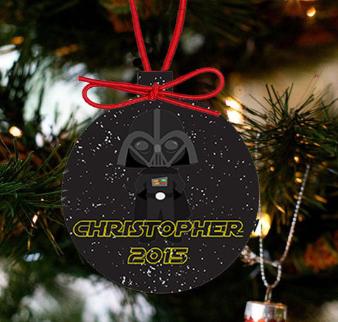 Personalized Christmas Star Wars Ornament - Darth Vader - Designs by Dee's Hands