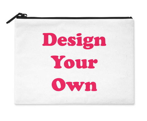 Accessory Bag, Coin Purse, Makeup Pouch, Personalized Zippered Pouch - Design Your Own - Designs by Dee's Hands  - 1