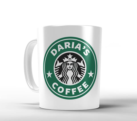 Starbucks Inspired Personalized Coffee Mug - Designs by Dee's Hands