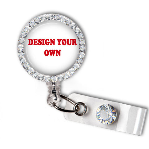 Design Your Own Swarovski Crystal Name Badge Holder - Designs by Dee's Hands  - 1