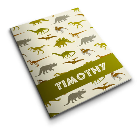 Personalized Pocket Folder - Dinosaurs - Designs by Dee's Hands  - 1