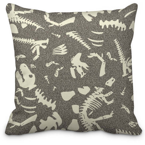 Dinosaur Bones Throw Pillow - Designs by Dee's Hands