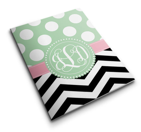 Personalized Pocket Folder Polka Dots & Chevron - Designs by Dee's Hands  - 1