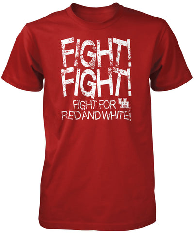 Coogs! Apparel - University of Houston Fight for Red & White TShirt, Unisex T-Shirt - Fight Song