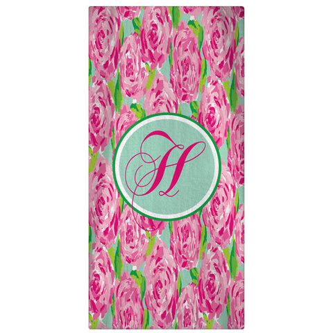 Personalized Beach Towel, First Impressions Monogrammed Towel - Designs by Dee's Hands  - 1