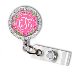 First Impressions Swarovski Crystal Name Badge Holder - Designs by Dee's Hands  - 1