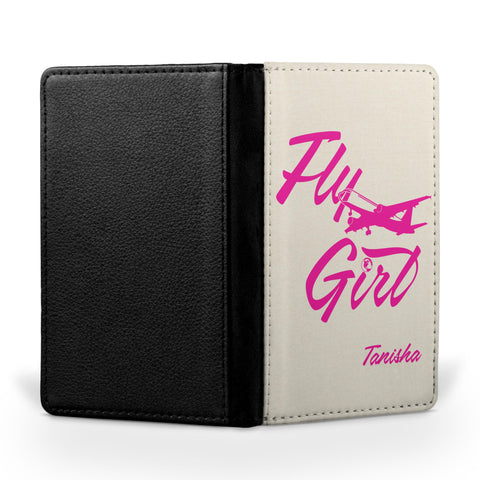 Personalized Passport Cover, Passport Holder - Fly Girl