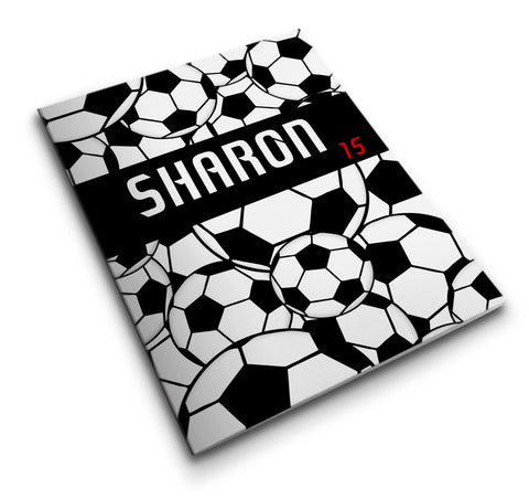 Personalized Pocket Folder - Soccer Balls - Designs by Dee's Hands  - 1