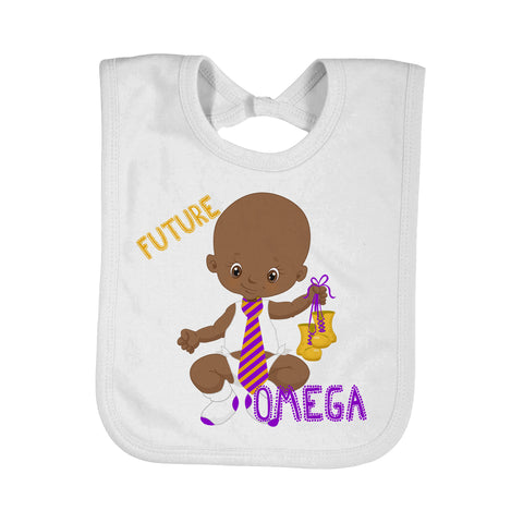 Future Omega Baby Bib - Designs by Dee's Hands