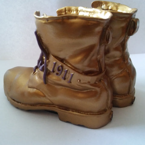 Miniature Omega Gold Boots Keepsake by the Gold Boot Company - Designs by Dee's Hands  - 2