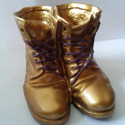 Miniature Omega Gold Boots Keepsake by the Gold Boot Company - Designs by Dee's Hands  - 1
