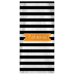 Monogrammed, Personalized Beach Towel - Horizontal - 64 Color Options - Designs by Dee's Hands  - 1