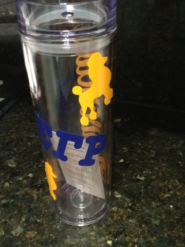 SGRho - Personalized Sorority Tumbler - Designs by Dee's Hands  - 2