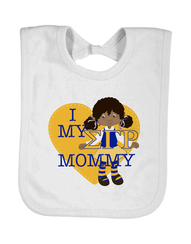 Baby Bib I Love My ΣΓΡ Mommy, Auntie, Godmother, Grandmother, Nana - Designs by Dee's Hands