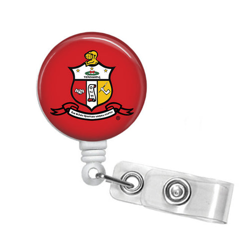Kappa Alpha Psi Fraternity Coat of Arms Name Badge ID Holder - Designs by Dee's Hands  - 1