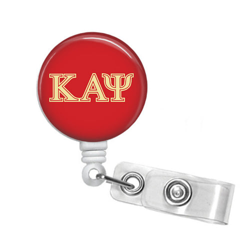 Kappa Alpha Psi Fraternity Greek Letters Name Badge ID Holder - Designs by Dee's Hands  - 1