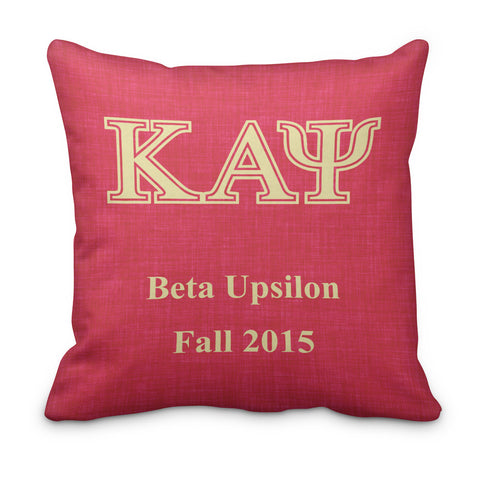 Kappa Alpha Psi Personalized Fraternity Pillow - Double Sided - Designs by Dee's Hands  - 2