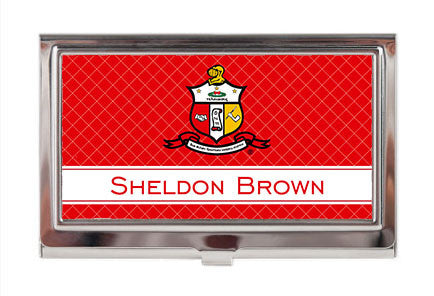 Business Card Case - Kappa Alpha Psi Fraternity Personalized - Designs by Dee's Hands  - 1