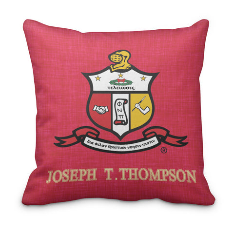Kappa Alpha Psi Personalized Fraternity Pillow - Double Sided - Designs by Dee's Hands  - 1