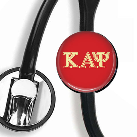 Stethoscope ID Tag - Kappa Alpha Psi Fraternity - Designs by Dee's Hands
