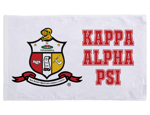 Yo! Home - Kappa Alpha Psi Gym Towel, Fraternity Gym Towel, Kappa Alpha Psi Workout Towel, Kappa Towel - Add Chapter or Line Name