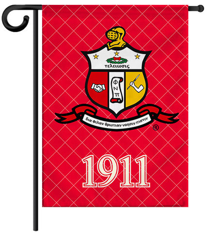 Fraternity Garden Yard Flag or House Flag Banner - Kappa Alpha Psi Fraternity - Designs by Dee's Hands