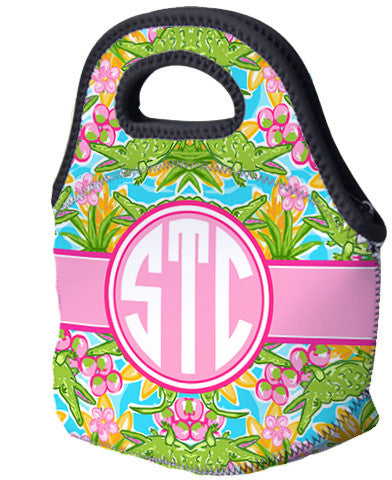 Lunch Tote, Monogrammed Lunch Bag - Pack of Gators - Designs by Dee's Hands