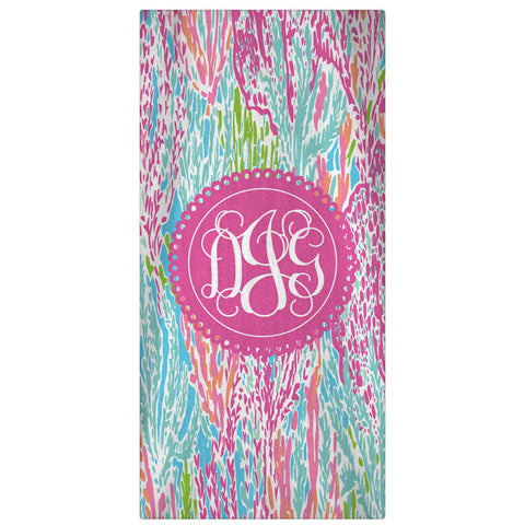 Personalized Beach Towel, Let's Cha Cha Monogrammed Towel 60 x 30 - Designs by Dee's Hands  - 2