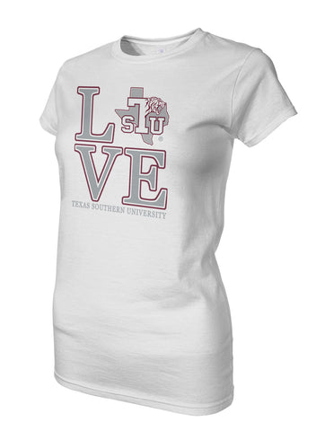 TSU! Apparel - Texas Southern University Love Ladies Tee
