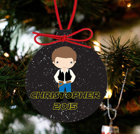 Personalized Christmas Star Wars Ornament - Hans Solo - Designs by Dee's Hands