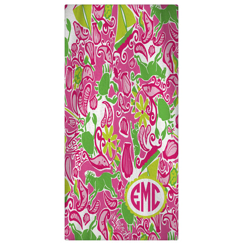 Monogrammed, Personalized Beach Towel - Maryland - Designs by Dee's Hands