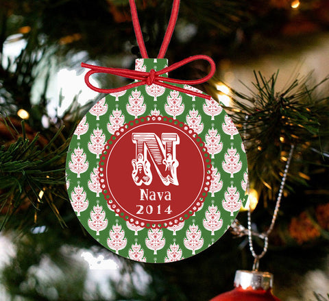 Personalized Initial & Name Christmas Ornament - Designs by Dee's Hands